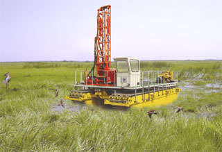 Heavy Duty Truck >> Swamp Drilling Rig-Marsh/swamp Drill Barge Drill-HonYe ...